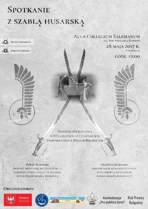 Plakat - Spotkanie z szablą husarską
