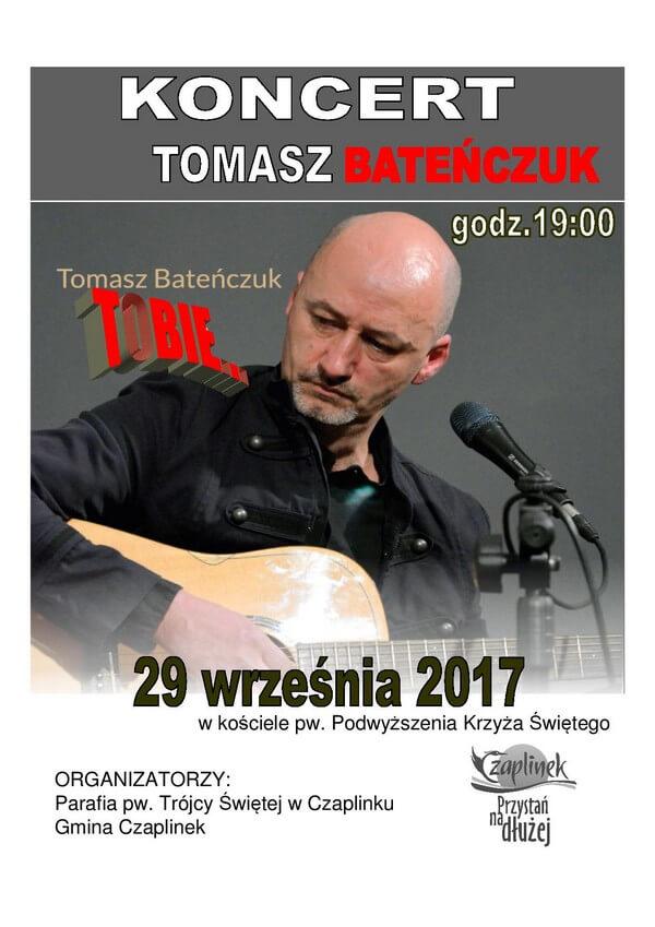 Plakat koncert Tomasz Bateńczuk