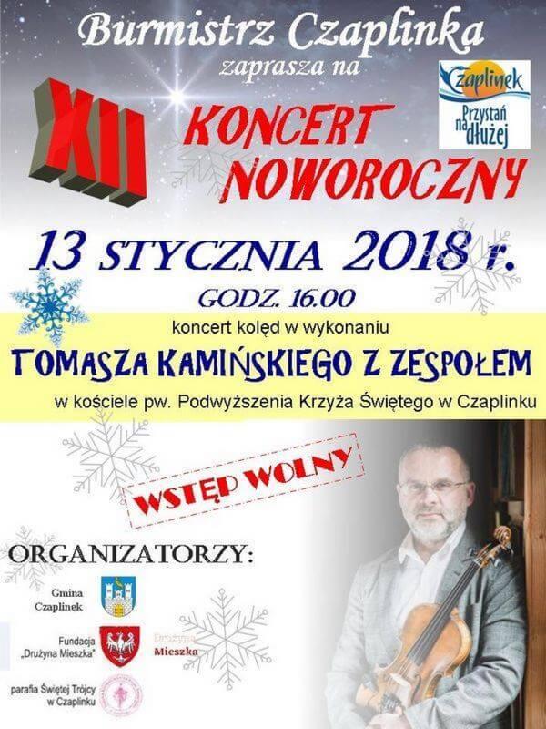 Plakat Koncert Noworoczny w Czaplinku