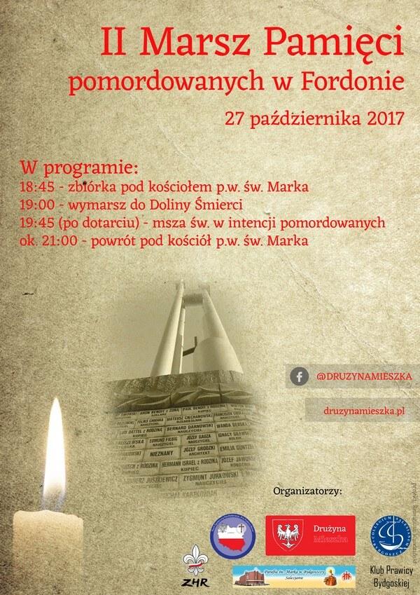 Plakat - II Marsz Pamięci pomordowanych w Fordonie