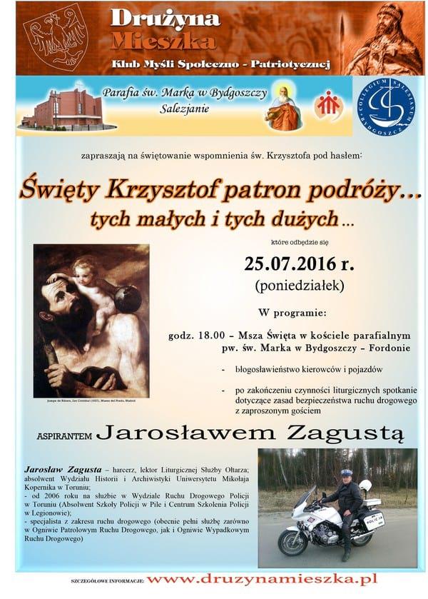 Plakat spotkanie z asp Zagustą