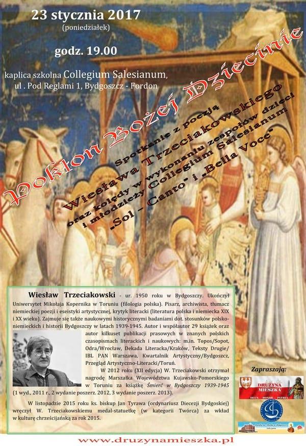 Plakat - Spotkanie z poezją Wiesława Trzeciakowskiego