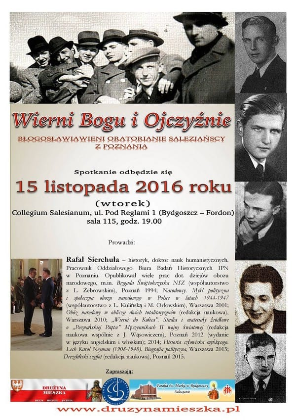 Plakat spotkanie z dr Rafałem Sierchułą