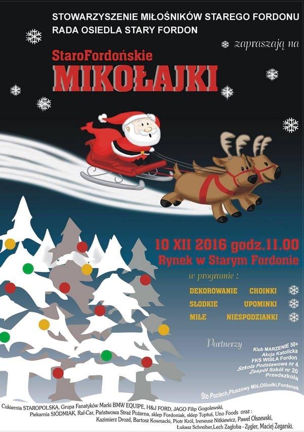 Plakat Pierwsze Starofordońskie Mikołajki